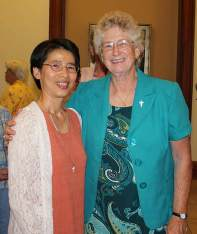 Sister Anna Fan (left) and Sister Jenny Howard, general officer liaison.