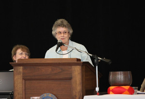 Providence Associate Connie Schnapf shares the story of her journey as a Providence Associate at the Sisters of Providence annual meeting at Saint Mary-of-the-Woods in July.