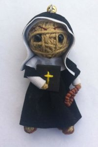 On Sept. 13, Linden Leaf Gifts will begin taking pre-orders for the Saint Mother Theodore Guerin string doll keychain.