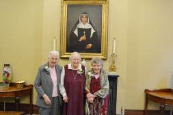 2015 75-year Jubilarians include (from left) Sisters Annette Schipp, Mary Roger Madden and Richard Bussing.