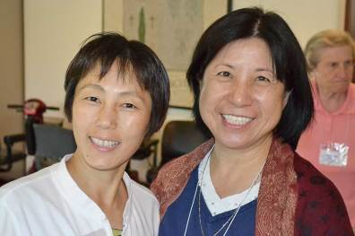 Sister Anji Fan (left) with Sister Norene Wu. (photo by Jason Moon)