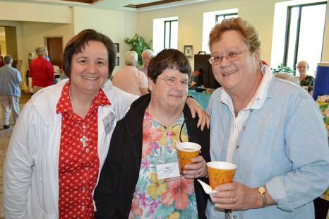 Sister Anne Therese Falkenstein (left), Sister Jane Iannaccone (center) and Sister Theresa Ann Boland. (photo by Jason Moon)