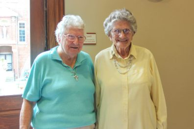 Sister Dorothy Ellen Wolsiffer and Sister Marceline Mattingly