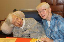 Sister Mary Terence Haag and Sister Susan Dinnin