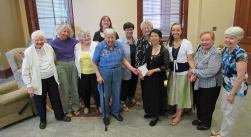 After the blessing: from left, Sister Charles Van Hoy, Becky Keller, Teresa Costello, Arrianne Whittaker (back), Suzanne Buthod, Carole Kimes, Jenny Howard, Anna Fan, Tracey Horan, Mary Beth Klingel, Marsha Speth.