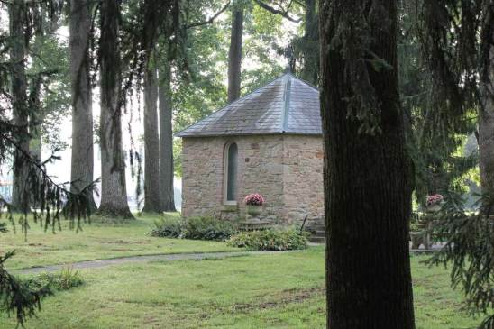The St. Anne Shell Chapel exterior.