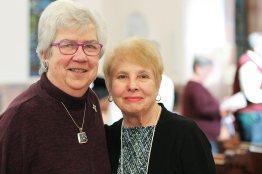 Sister of Providence Pat Mahoney and her Providence Associate companion Elizabeth Kolar Malone.