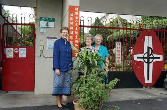 Sister Dawn, Sister Jeanne and Sister Jenny at Miracle Home.