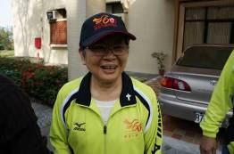 Sister Celeste Tsai during Sports Day at Providence University.