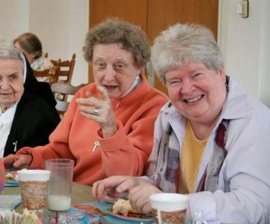 Sisters Helen Therese Conway, Maureen Ann McCarthy, Jan Craven.