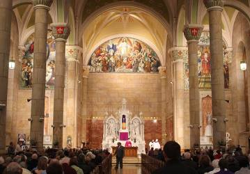 Beautiful St. Joseph Catholic Church was filled with parishioners, visitors and many Sisters of Providence.
