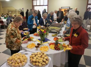 People found a warm reception in Kundek Hall, after the blessing. Photo: PA Marilyn Rausch.