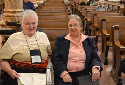 Companion Sister Rosemary Ward with Providence Associate Laura Dudkowski