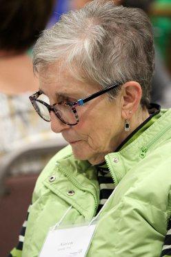 Providence Associate Karen Goehl at prayer.