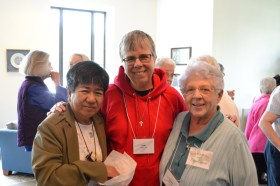 Being community, from left, Sisters Evelyn Ovalles, Judy Birgen and Marilu Covani.