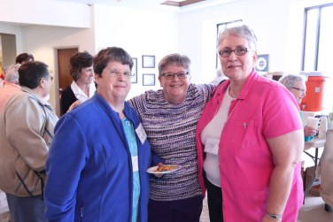 Say cheese (and crackers)! From left, Sisters Jane Iannaccone, Beth Wright and Laura Parker.