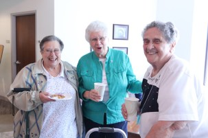 Having fun on a break are, from left, Sisters Andre Panepinto, Kay Manley and Josephine Paolinelli.