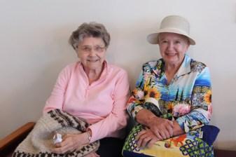Smiling pretty are Sisters Ann Paula Pohlman and Carolyn Glynn.