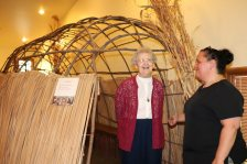 Sister Barbara Doherty enjoying the Dobbs Park Native Museum.