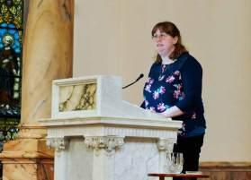 Sister Arrianne Whittaker reads