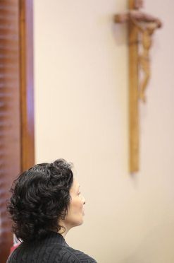 Providence Associate Candidate Kay Hassan during a reflective moment at the orientation.