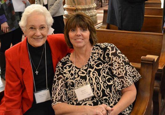 Sister Joan Kirkpatrick with Providence Associate Sherrie Mansfield