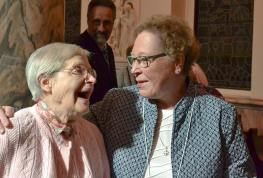 Sister Rosemary Borntrager with her former sixth grade student and new Providence Associate Nancy Dannels