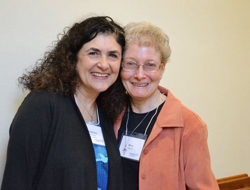 Providence Associate Stephanie Downing with her Sister of Providence Companion Sister Betty Hopf, spent a year journeying together as Stephanie prepared to become a Providence Associate.
