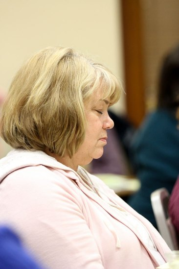 Providence Associate Diane Gardner at prayer.