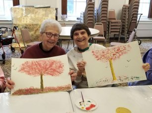 Sisters showing off their final master pieces.