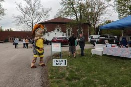 Texas Roadhouse armadillo joined the Earth Day event!