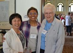 An intercultural Congregation: from left, Sister Anji Fan, Postulant Jessica Vitente and Sister Kay Manley.