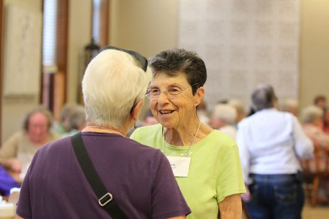 Sister Paula Modaff catches up with a Providence Associate.