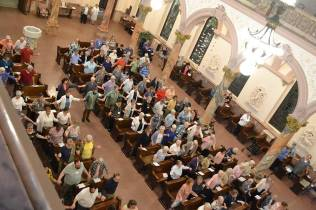 The church filled with sisters and associates home for annual meeting as well as guest and friends.