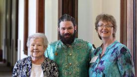 Sister Nancy Nolan with Providence Associates Ezra Meadors and Tara Lane.