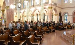 Candidate Associates and the Providence community join together for a blessing ceremony.