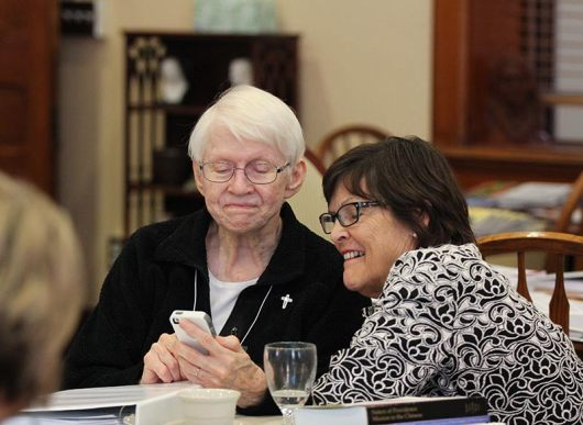 Sister Susan Dinnin and her Providence Associate companion Janet Tosick.