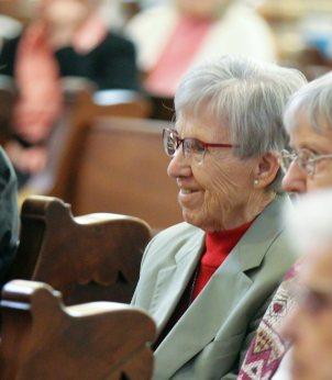 Sister Rosemary Eyler smiles during the reflection