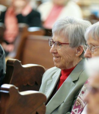 Sister Rosemary Eyler smiles during the reflection