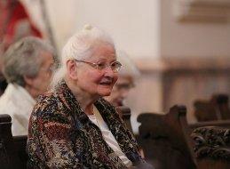 Sister Charles Van Hoy at Mass