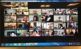 Sisters and Providence Associates together on Zoom from many remote locations filled multiple pages of the screen