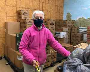 Sister Margaret Norris volunteers feeding the hungry at the Food Pantry in West Terre Haute.