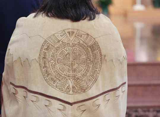 Detail on Sister Joni's Native American dress