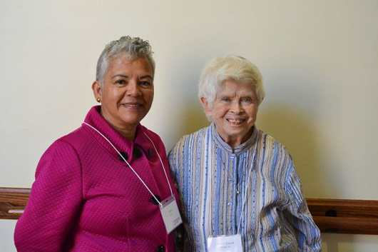 Providence Associate Gloria Urrea with her companion Sister Carol Nolan