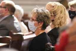 Providence Associate Mary Lou Kiesle during Mass