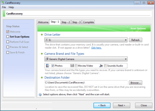CardRecovery Key 6.10 Build 1210 Crack