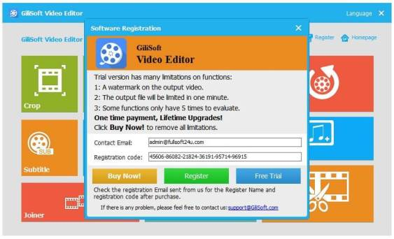 gilisoft video editor 8.1 0 key