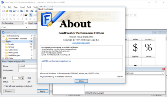 FontCreator Professional 11.0.5.0.2427 Crack