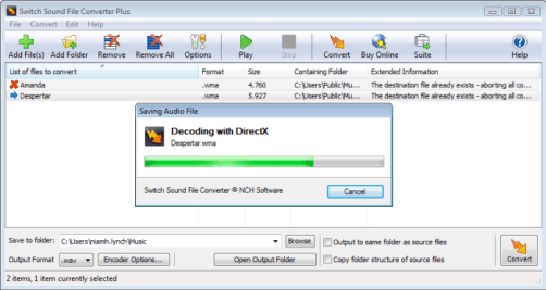 NCH Switch Sound File Converter