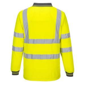 S277 - Hi-Vis Long Sleeved Polo Yellow